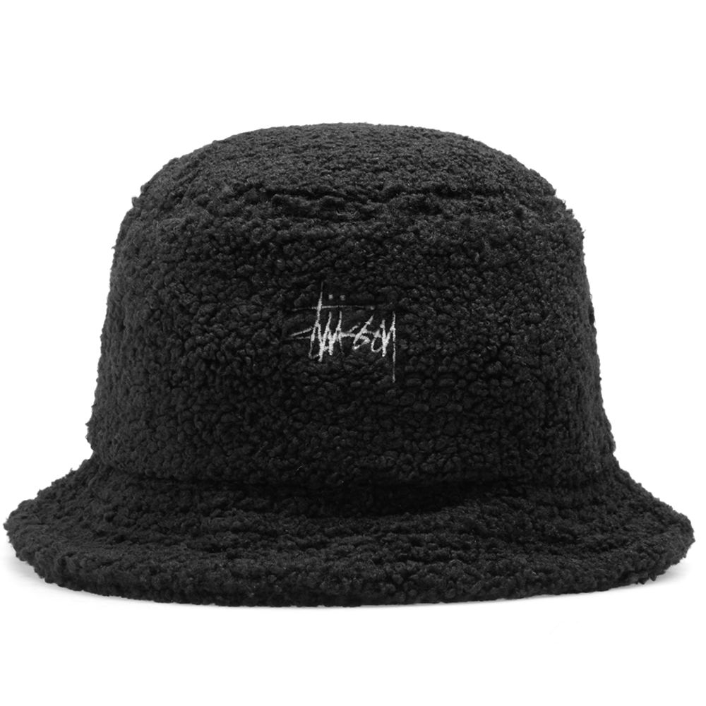 Stussy Sherpa Fleece Bucket Hat Black  6caab75c450