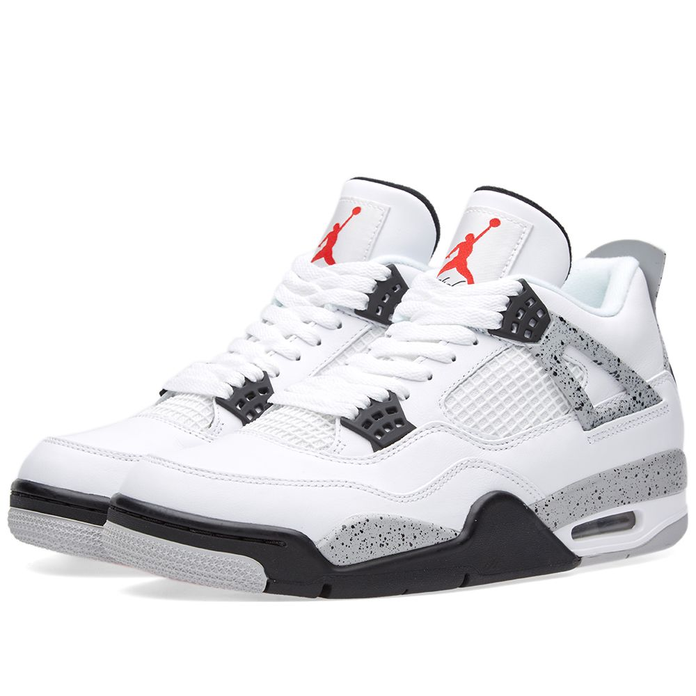 online store 2b9c4 5516e Nike Air Jordan 4 Retro OG White, Fire Red   Black   END.