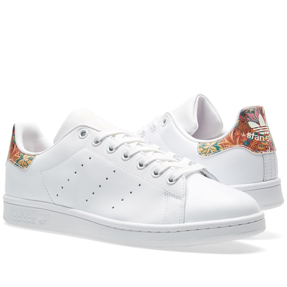 d7b76adf33f93 Adidas Women s Stan Smith Floral W White   Off White