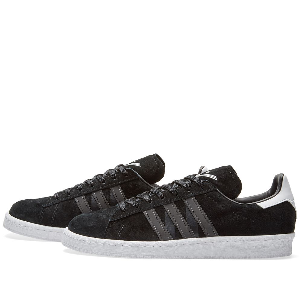 huge discount 1dd43 2304b Adidas x White Mountaineering Campus 80s. Core Black  Utility Black