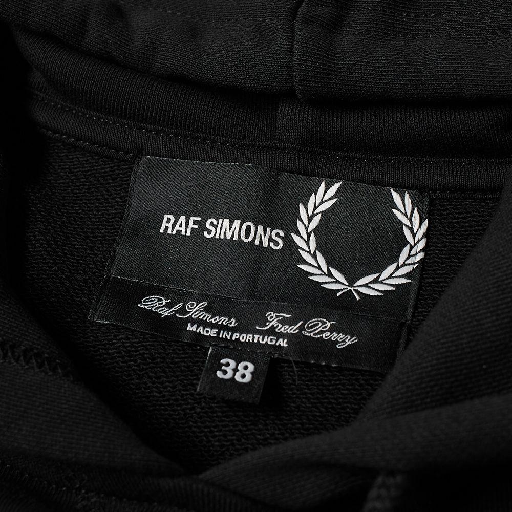 e10952a10f6 Fred Perry x Raf Simons Tape Detail Hoody Black