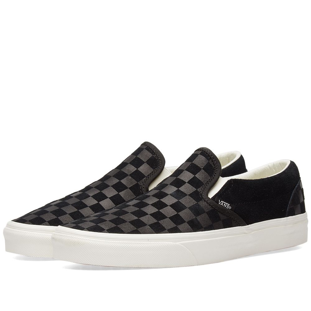 2cf88029145 Vans Classic Slip On Checkerboard Embossed Black   Marshmallow
