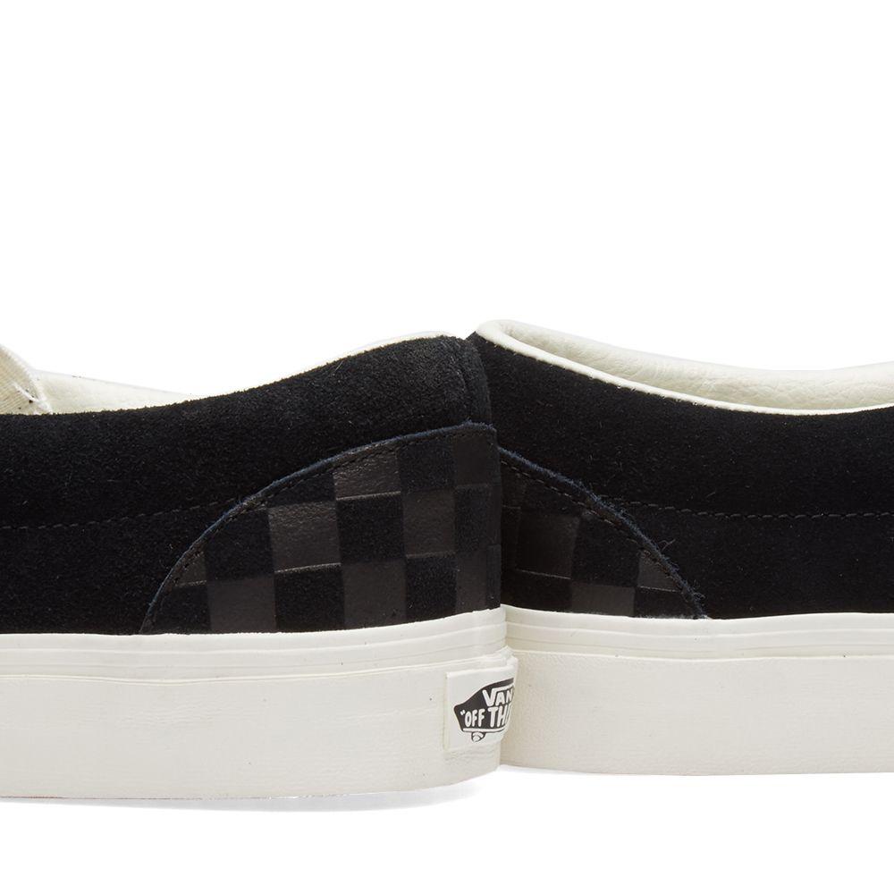 53ef16e2c0853d Vans Classic Slip On Checkerboard Embossed Black   Marshmallow
