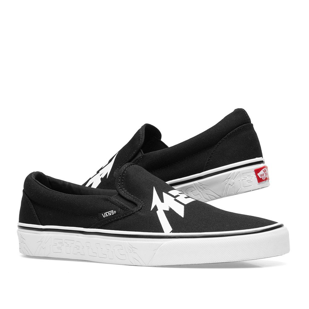 6998ca6ce9 Vans x Metallica Classic Slip On Black   True White