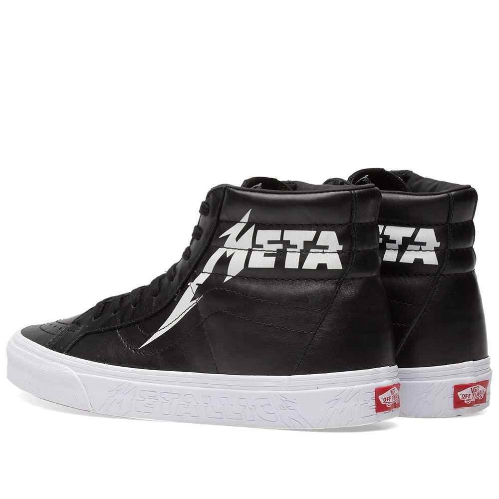 0286a2ae51 Vans x Metallica Sk8-Hi Reissue Black   True White