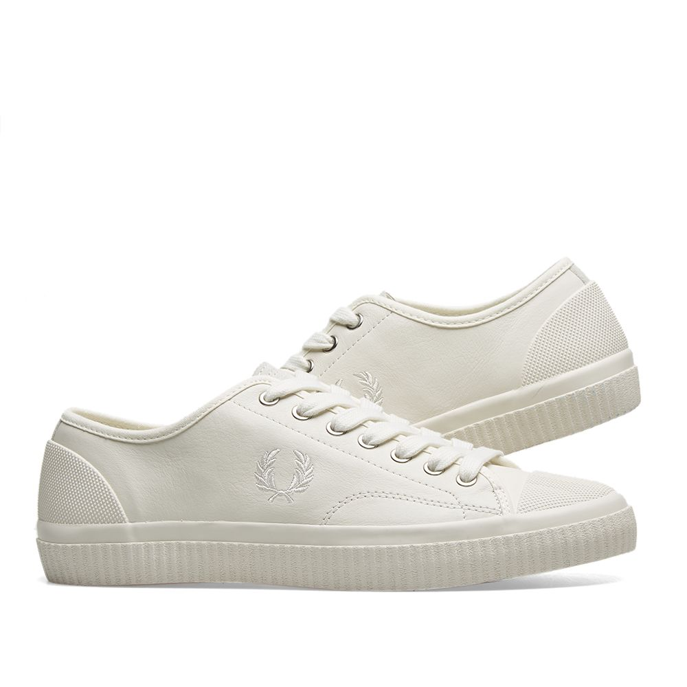 31351def6f12 Fred Perry Hughes Low Leather Sneaker Light Ecru