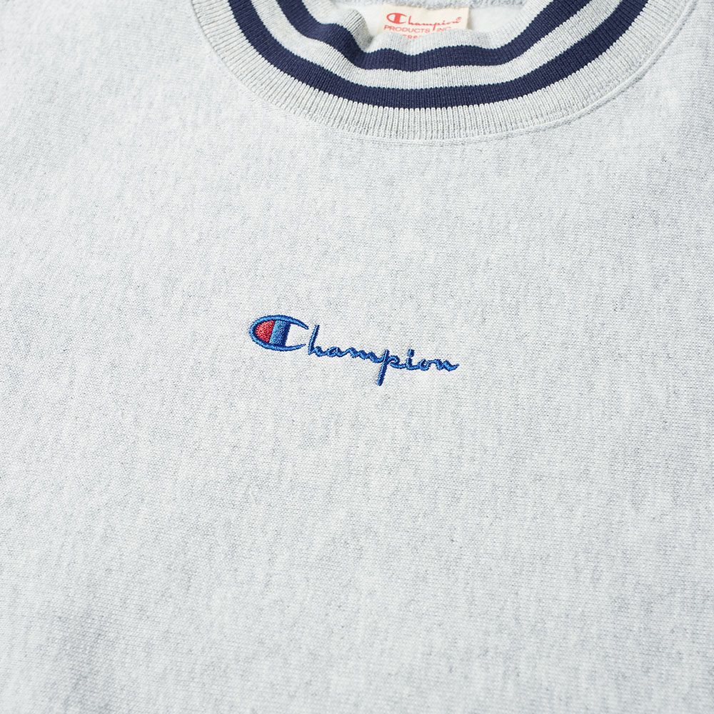 cfdf3f43 Champion Reverse Weave Script Logo High Neck Sweat Grey Marl | END.