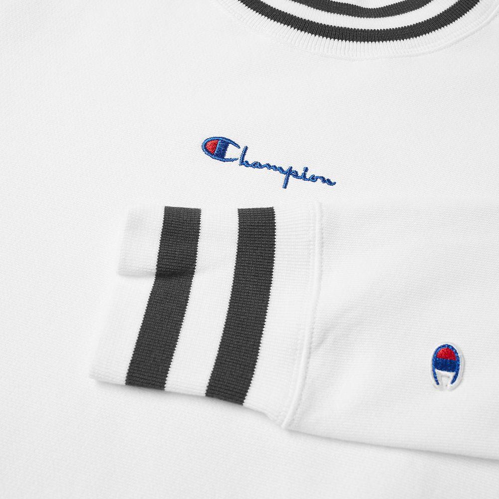 8582e293 Champion Reverse Weave Script Logo High Neck Sweat White | END.