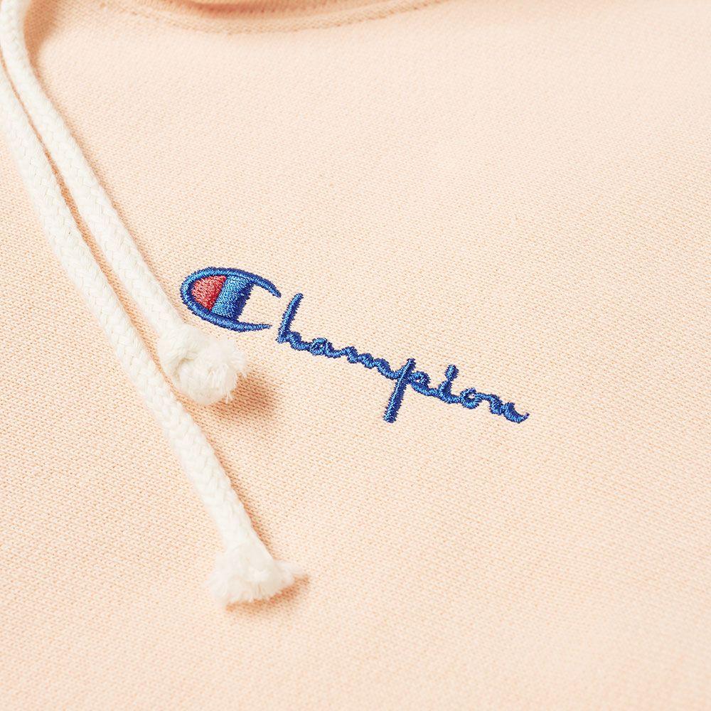 5536516d68ec Champion Reverse Weave Women s Small Logo Script Hoody Peach