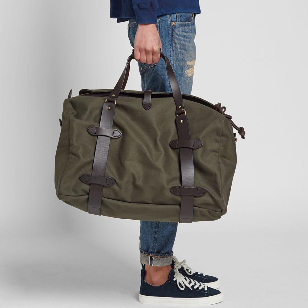 f03e7c3b42 Filson Twill Medium Duffle Bag Otter Green