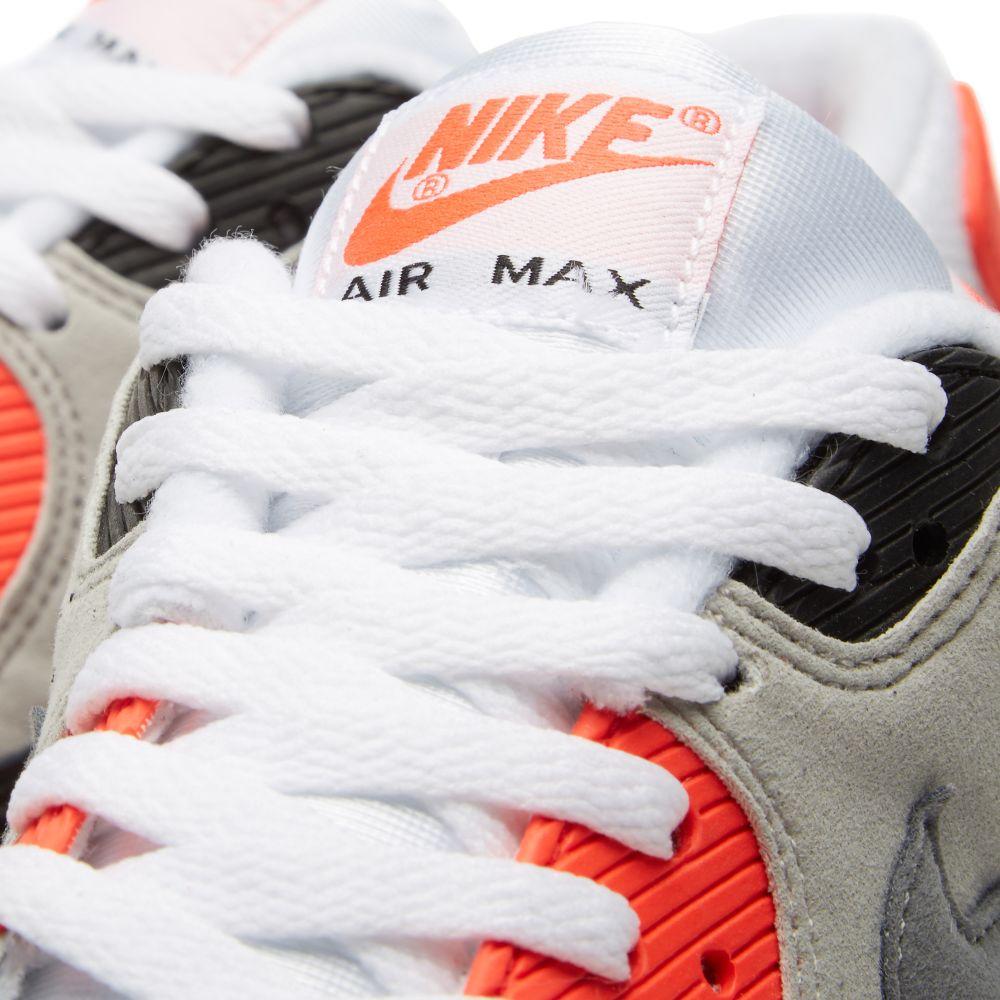 hot sale online 70b46 50b56 Nike Air Max 90 OG  Infrared  White, Cool Grey   Neutral   END.