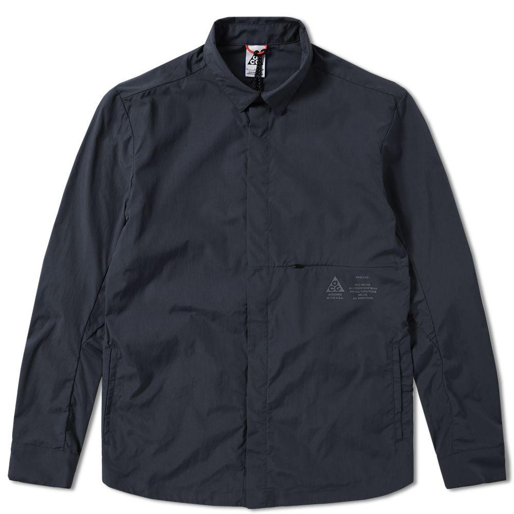 9830297674b2 NikeLab ACG Shirt Jacket Black
