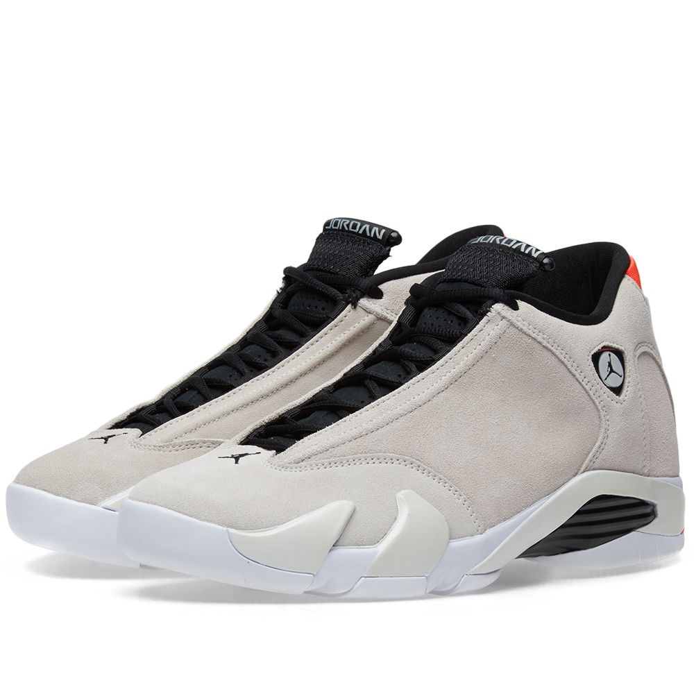 huge selection of 5e3f0 c7173 Air Jordan 14 Retro Desert Sand, Black   Infrared   END.