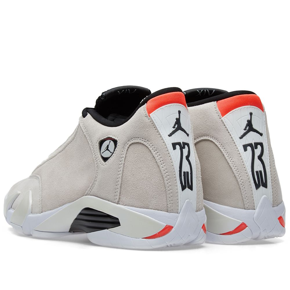 meet cd0d3 81a37 Air Jordan 14 Retro. Desert Sand, Black   Infrared