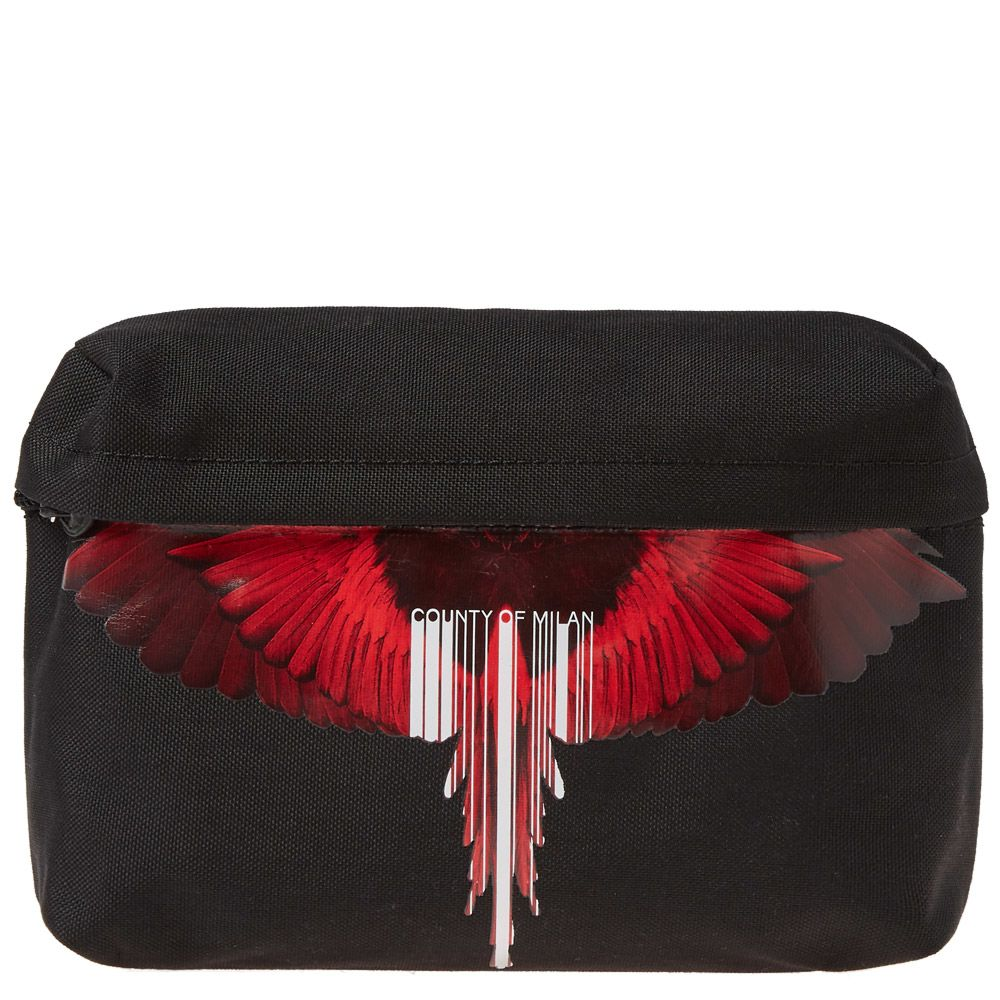 Marcelo Burlon Wings Barcode Cross Body Bag Black   Red  a92965d3fa2a8