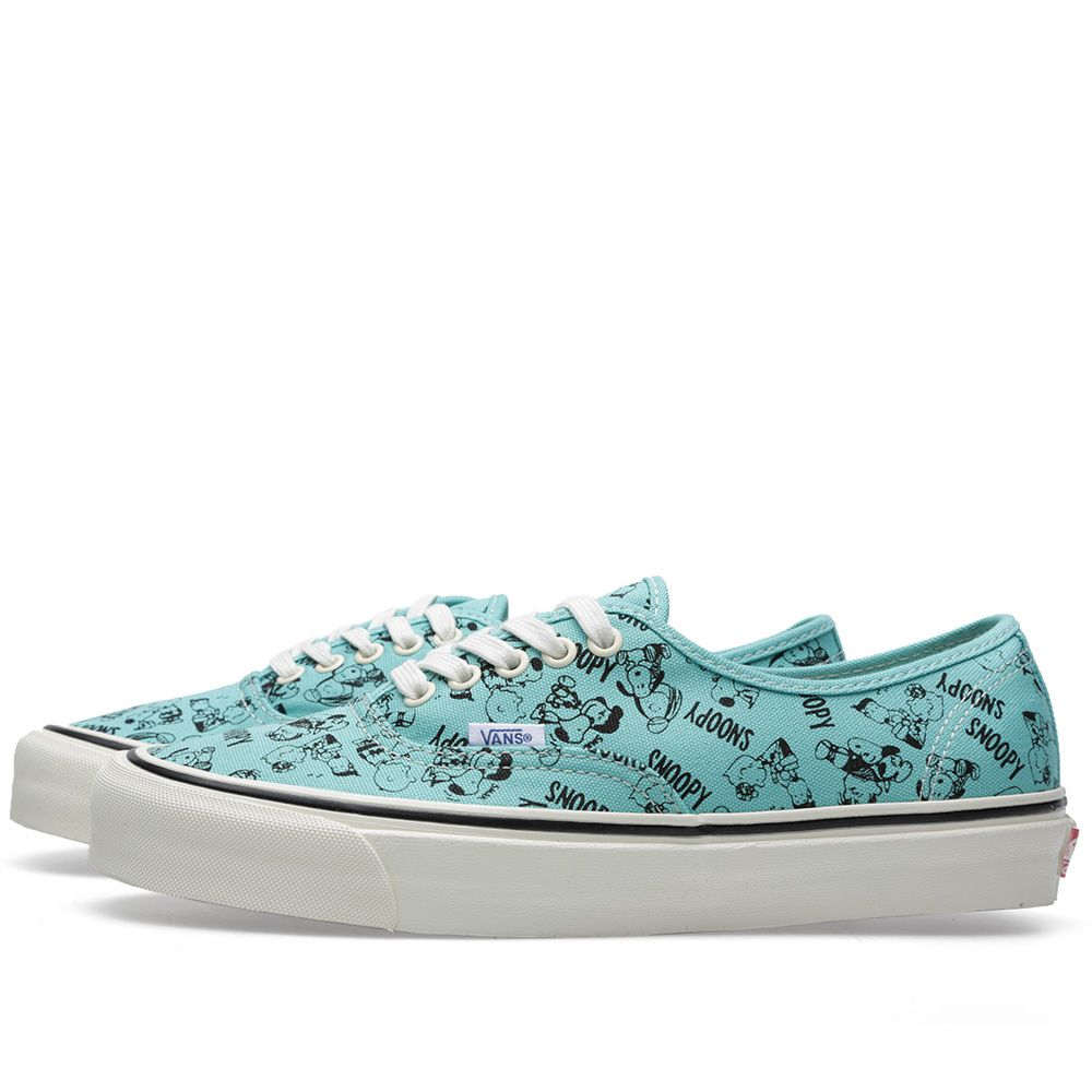 a539d8cb24 Vans Vault OG Authentic LX  Snoopy   the Gang  Blue Turquoise