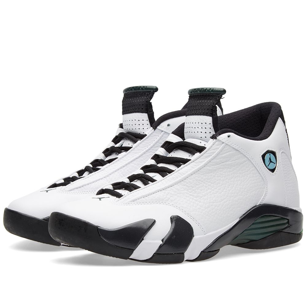 reputable site 39ccd 4be1a Nike Air Jordan 14 Retro White, Black   Oxidized Green   END.