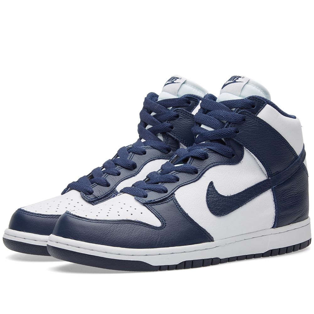 sports shoes d173b 042b4 Nike Dunk Retro QS White   Midnight Navy   END.