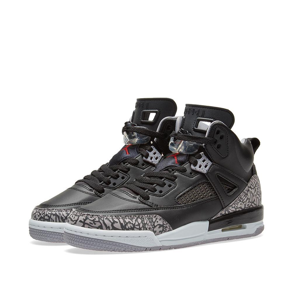 huge selection of 6d106 c14a3 Nike Air Jordan Spizike GS Black, Varsity Red   Grey   END.