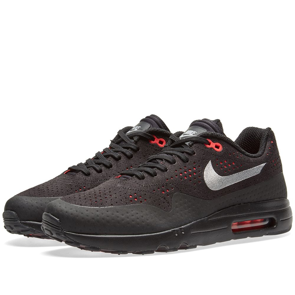 competitive price 0f09d 53d8e Nike Air Max 1 Ultra 2.0 Moire. Black, Wolf Grey   Solar Red. DKK925  DKK575. Plus Free Shipping. image