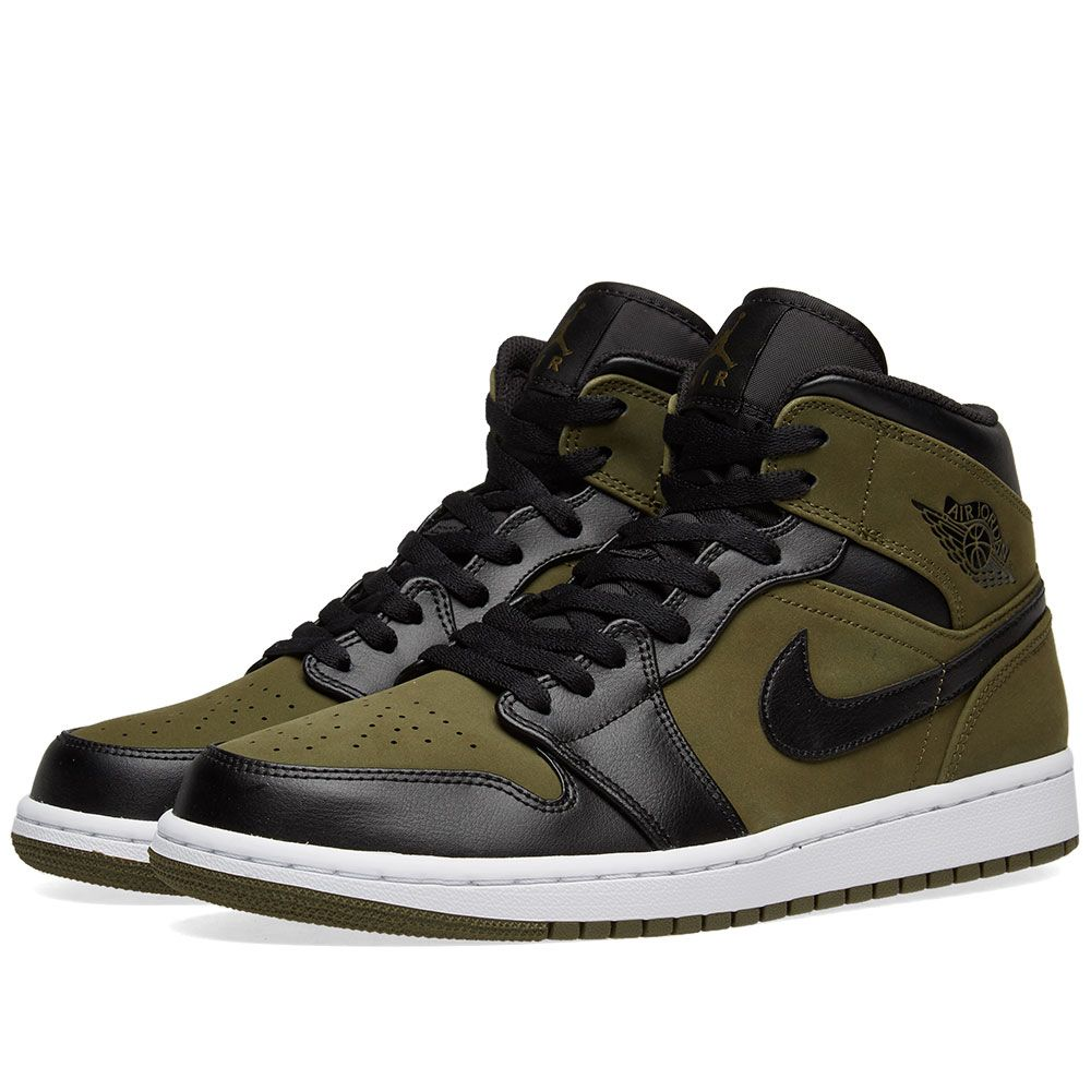 Air Jordan 1 Mid Olive Canvas 48d71bbdf