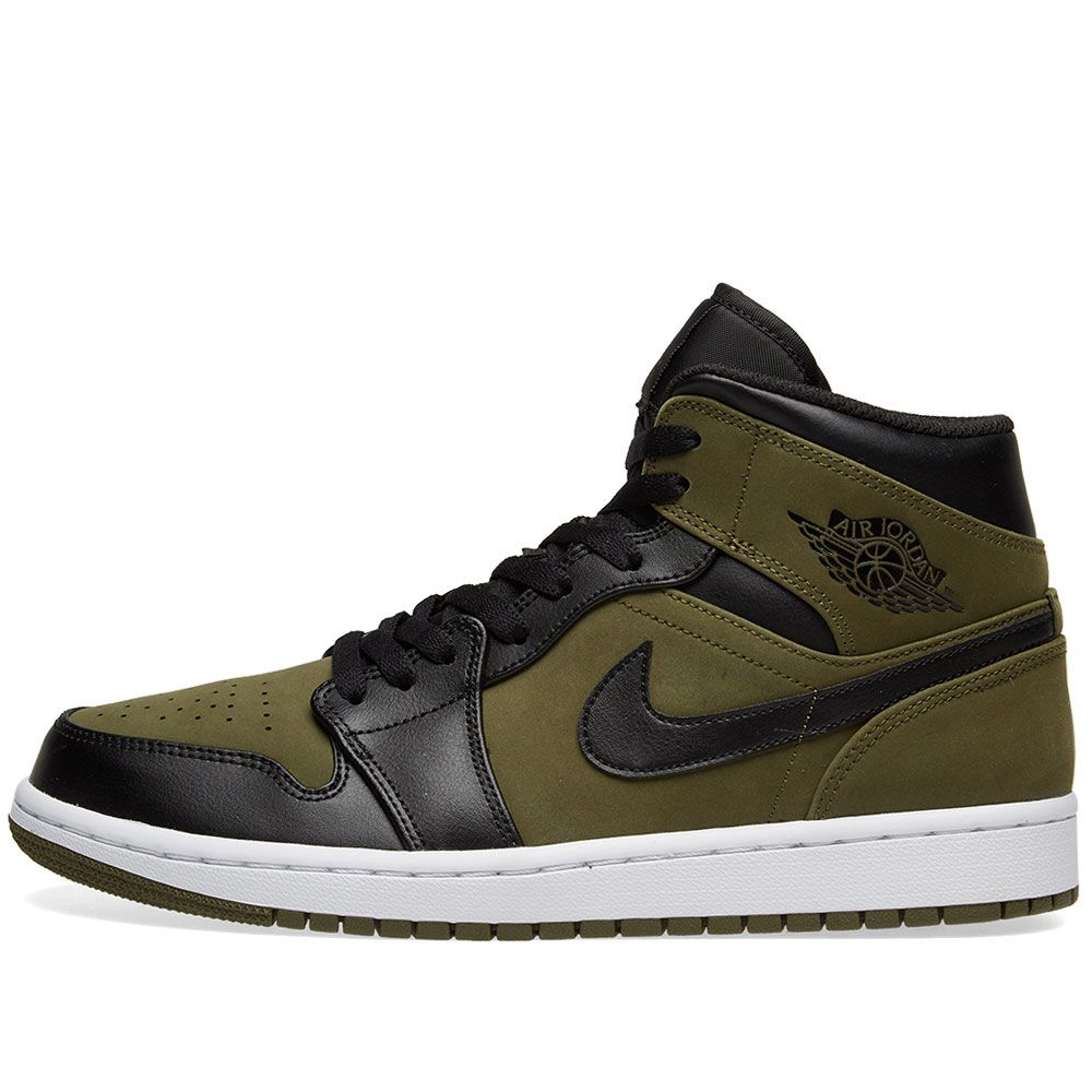 Air Jordan 1 Mid. Olive Canvas 05b705c9a