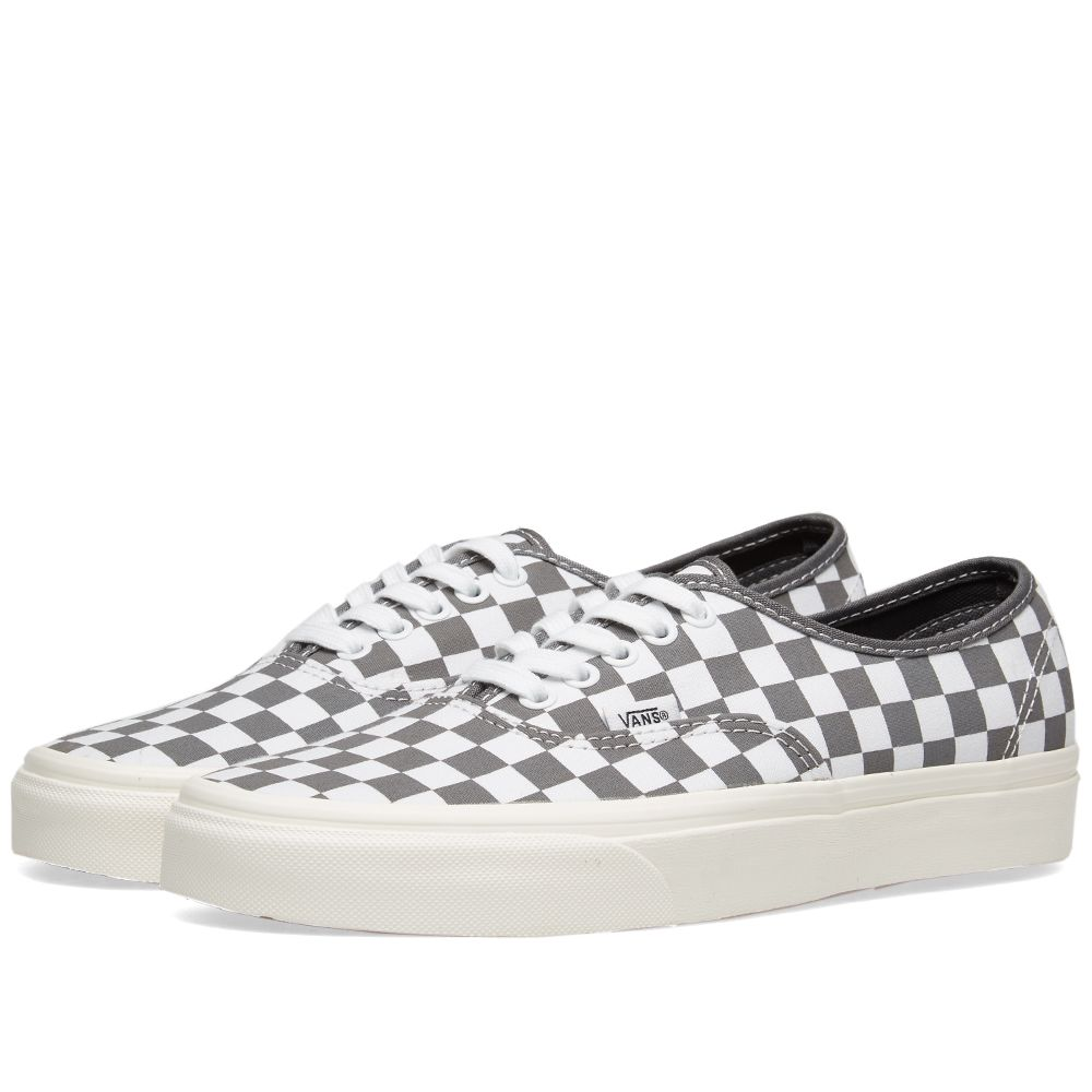 95ad7a6cf3 Vans Authentic Checkerboard Pewter   Marshmallow