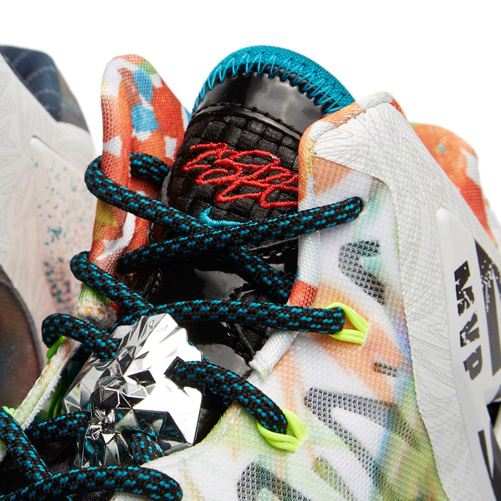 751e868816b8 Nike LeBron XI Premium  What The  Black Lava   Silver Ice