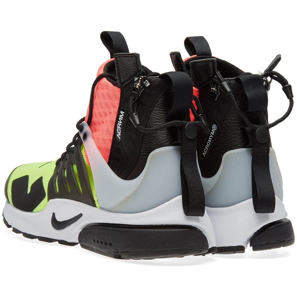 size 40 3feea 57347 Nike x Acronym Air Presto Mid White, Black  Hot Lava  END.