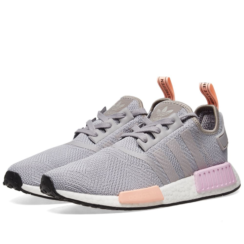 1b7aa85332262 Adidas NMD R1 W Light Granite   Clear Orange