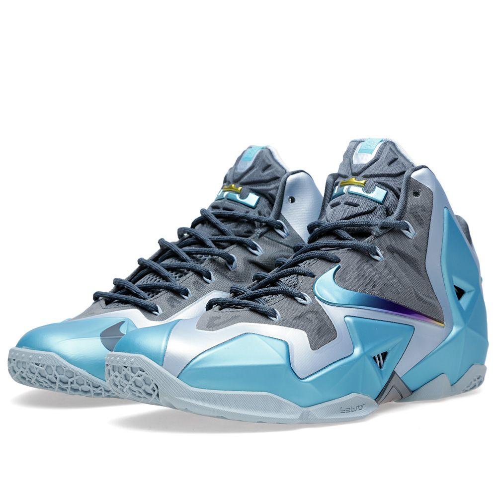 release date 73012 3fa00 Nike Lebron XI Armory Slate   Gamma Blue   END.