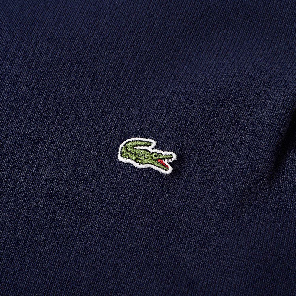 010d41292e Lacoste Classic Cotton Crew Knit Navy
