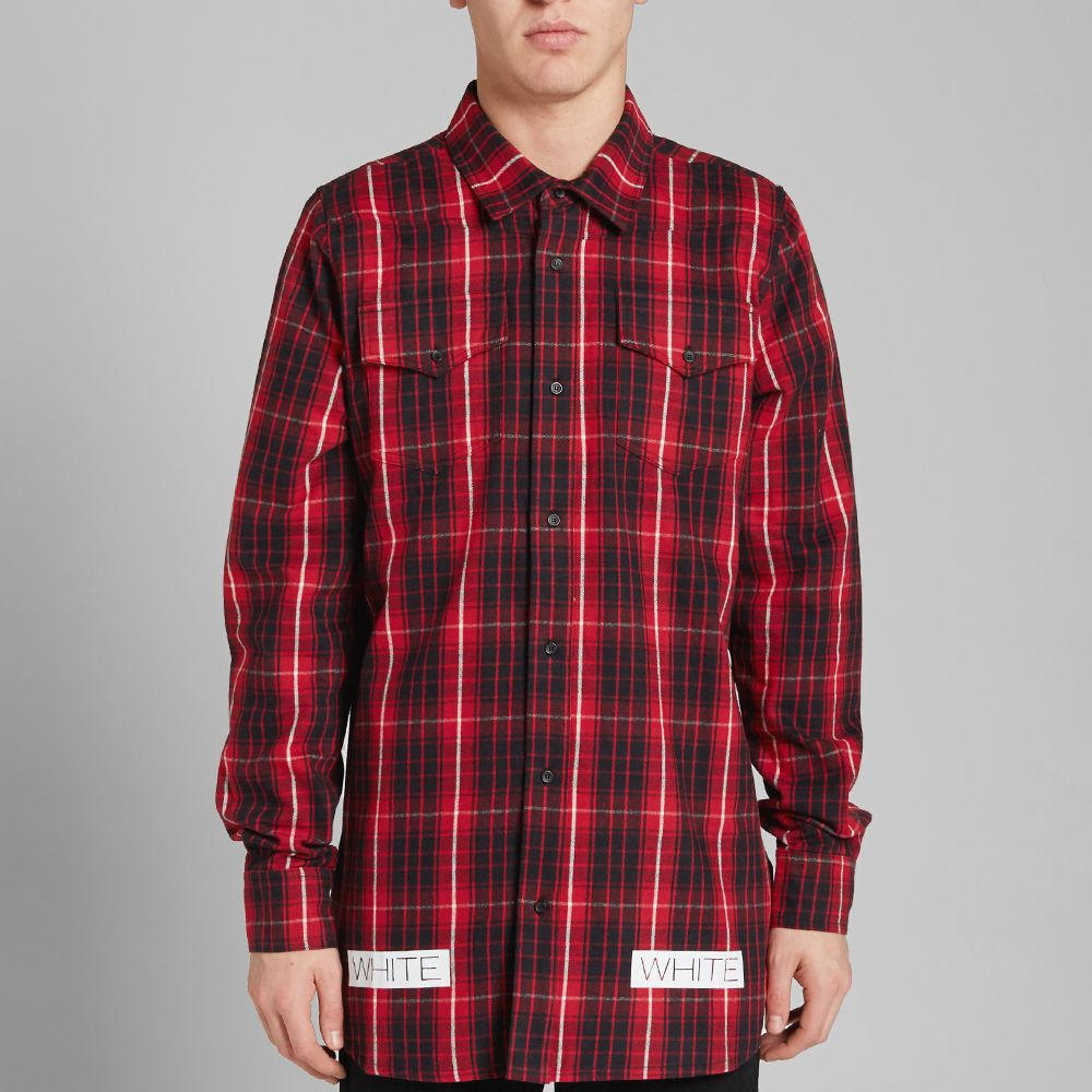 e8166440c35 homeOff-White Checked Flannel Shirt. image. image. image. image. image.  image. image. image. image. image. image. image. image