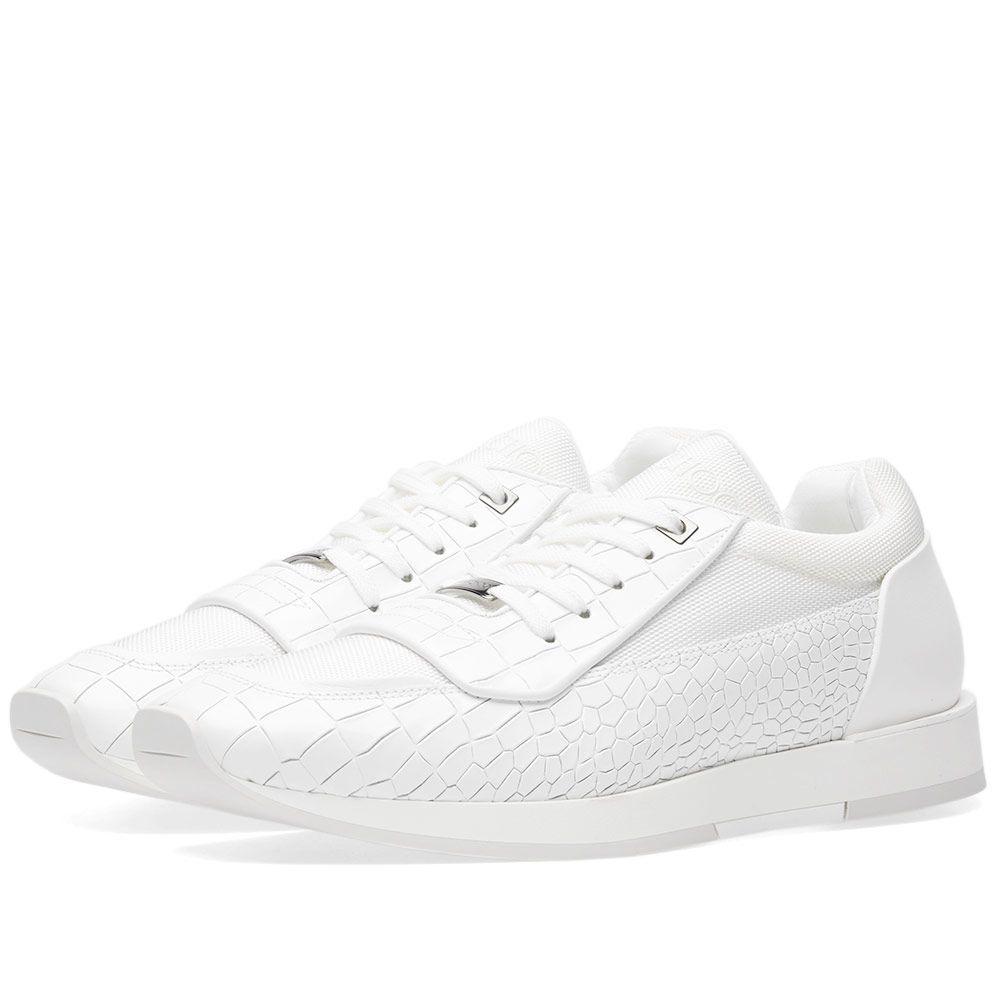 f91e0b6e1ea Jimmy Choo Jett Sneaker White Embossed Croc