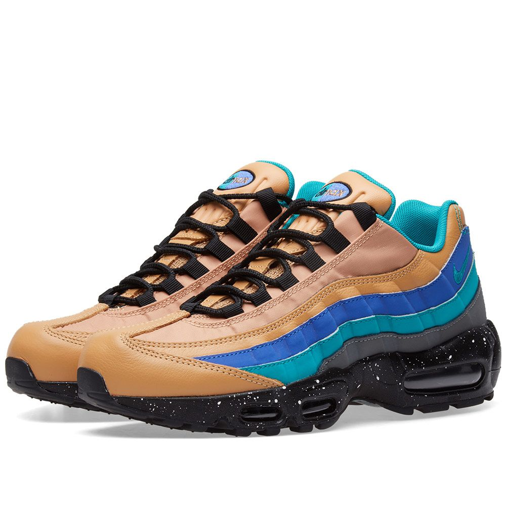 new product 94597 54882 Nike Air Max 95 Premium Praline, Turbo Green  Grey  END.