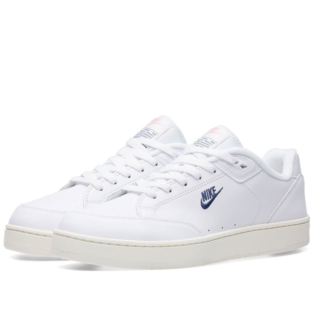 outlet store efcad 072ce Nike Grandstand II White, Navy  Sail  END.