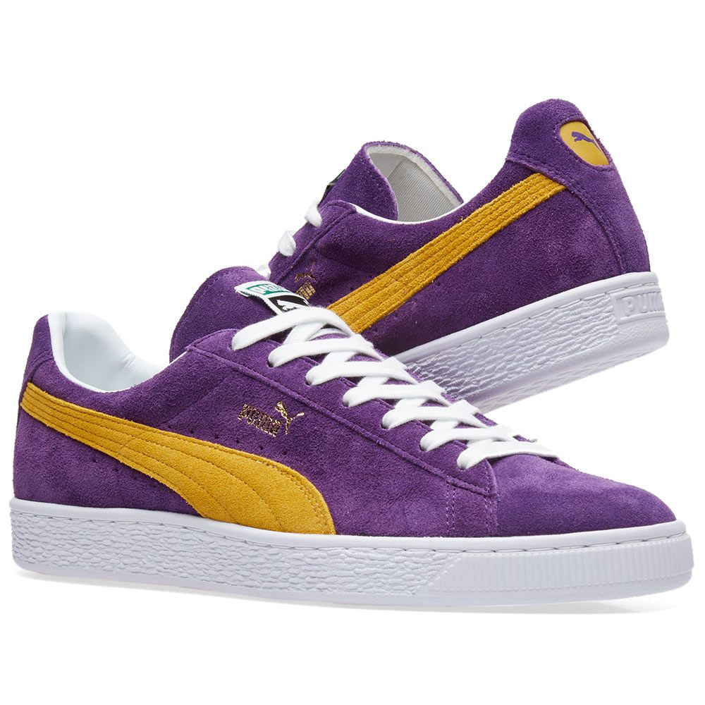 4faafe91df389a Puma x Collectors Suede Classic Heliotrope   Spectra Yellow