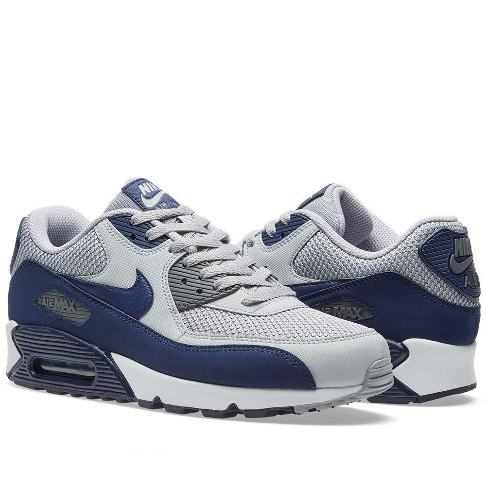 best service 92eee a3910 Nike Air Max 90 Essential. Wolf Grey, Binary Blue   White