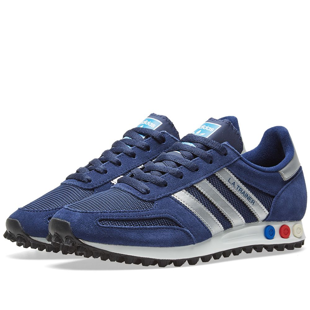 buy popular f6480 00eee Adidas LA Trainer Blue, Silver  Grey Heather  END.