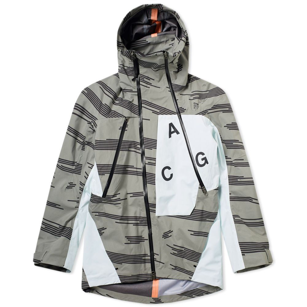 4a560fb8ca7a NikeLab ACG Alpine Jacket Dark Stucco   Barely Green