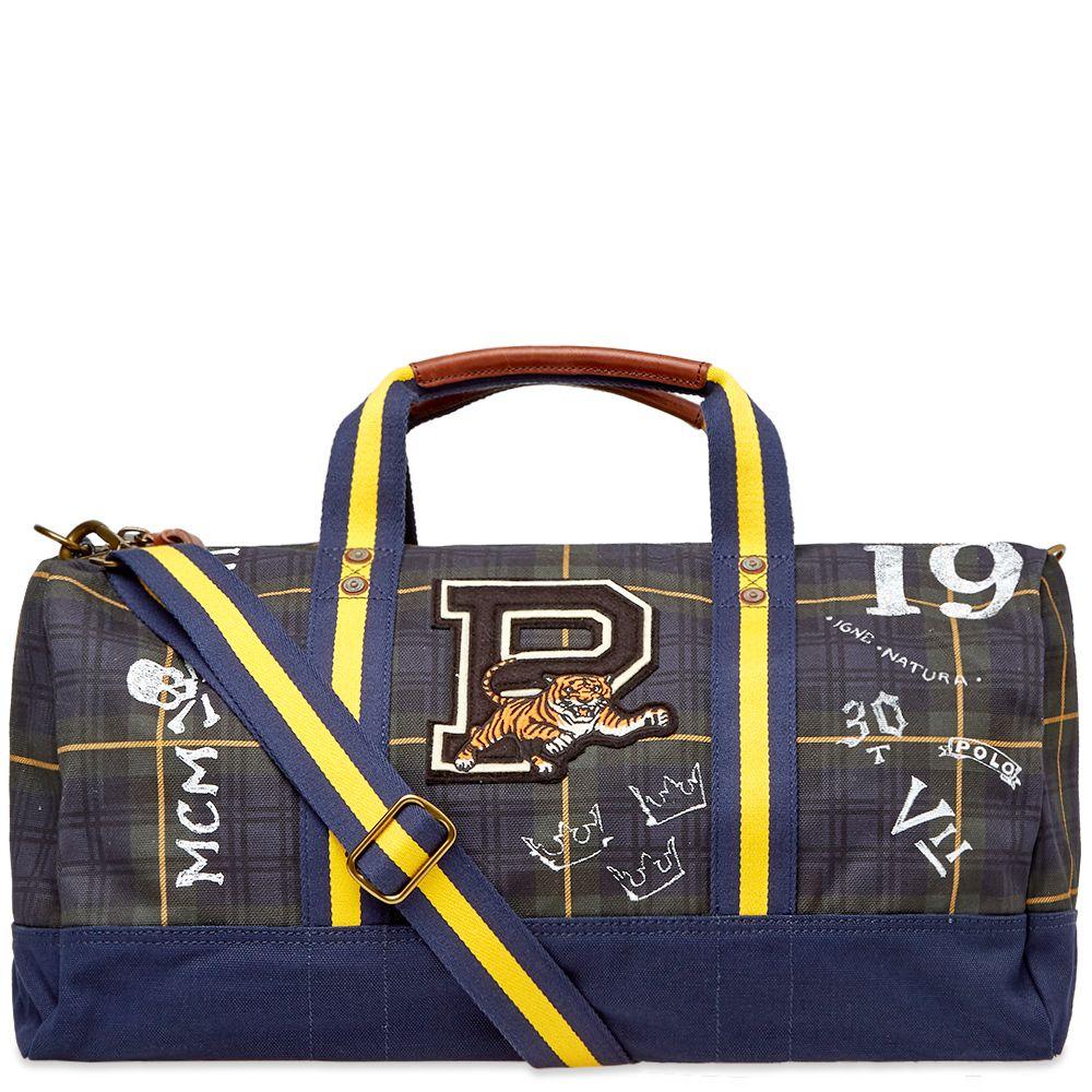 6ad5adb1791 Polo Ralph Lauren Black Watch Tartan Patch Duffel Bag Gordon Tartan ...