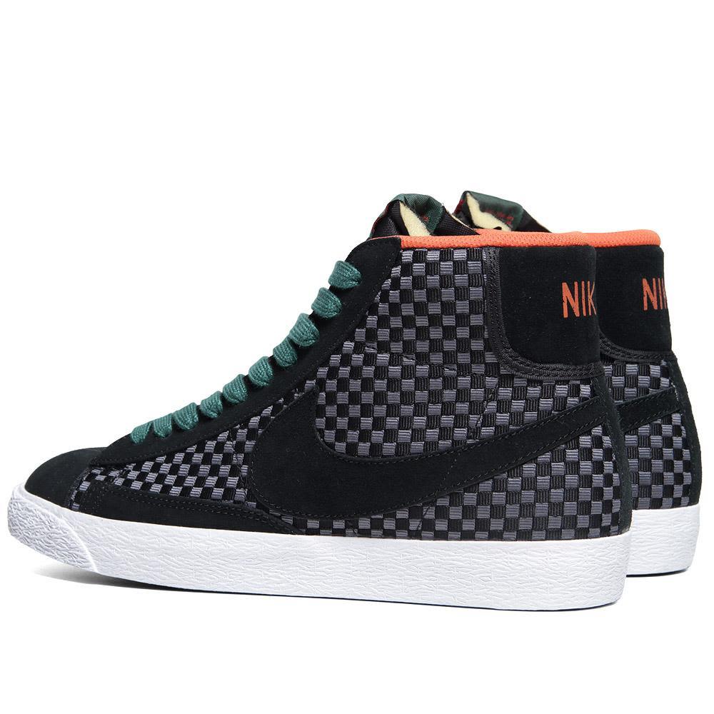 c2ecba934778 Nike Blazer Mid Woven Black   Gorge Green