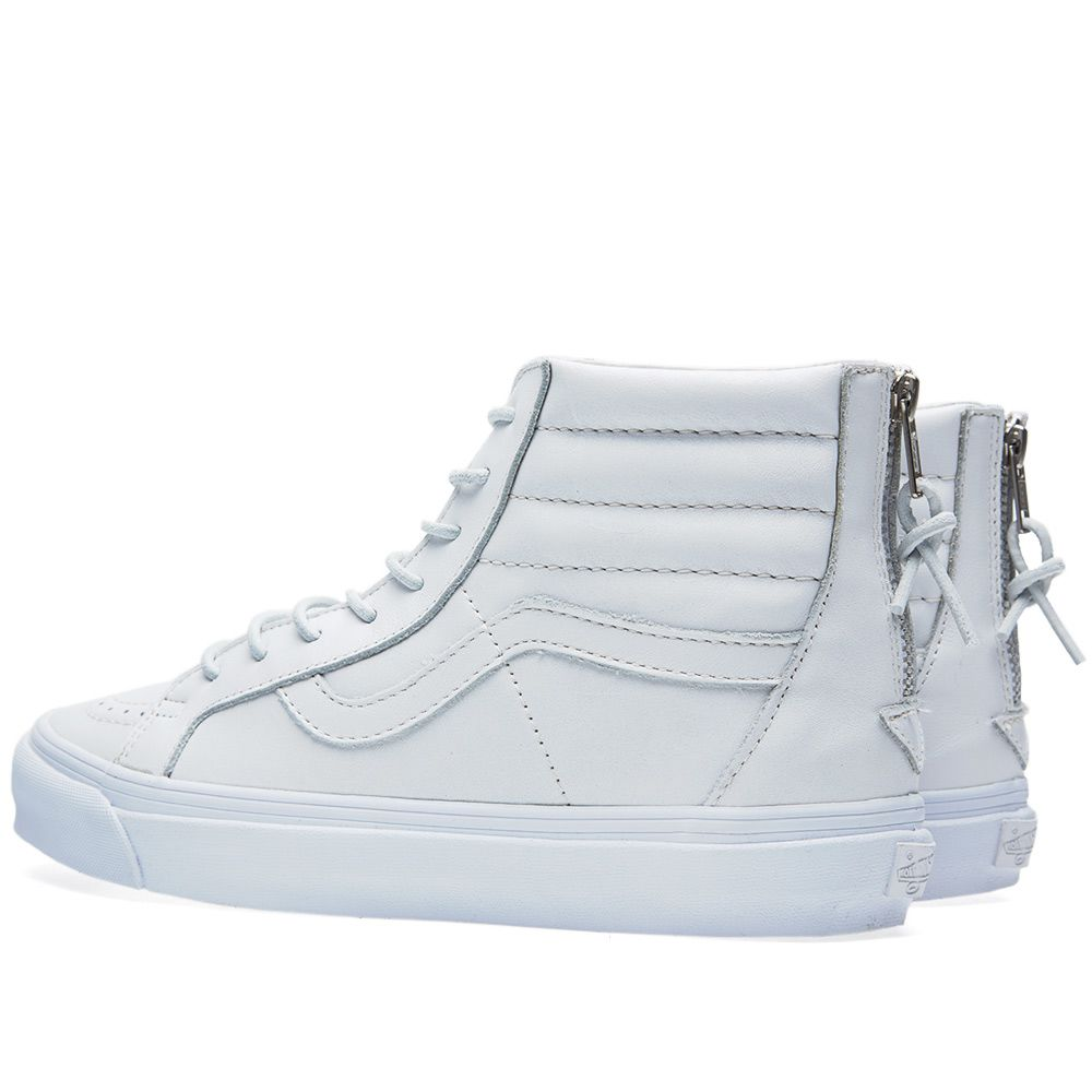 94e0a1d1481653 Vans Vault Sk8-Hi Reissue Zip LX White