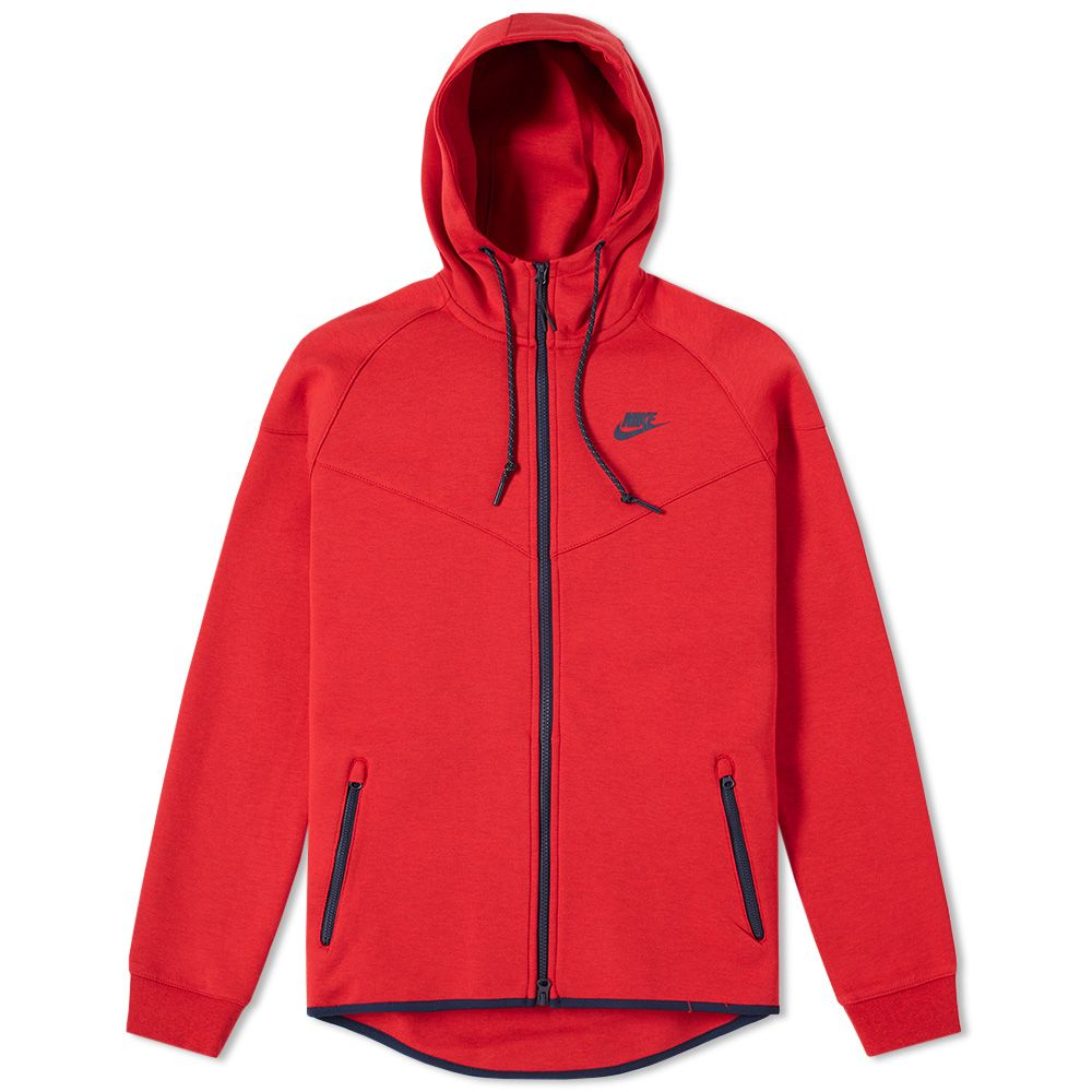 d0f79593344d Nike Tech Fleece Windrunner Red