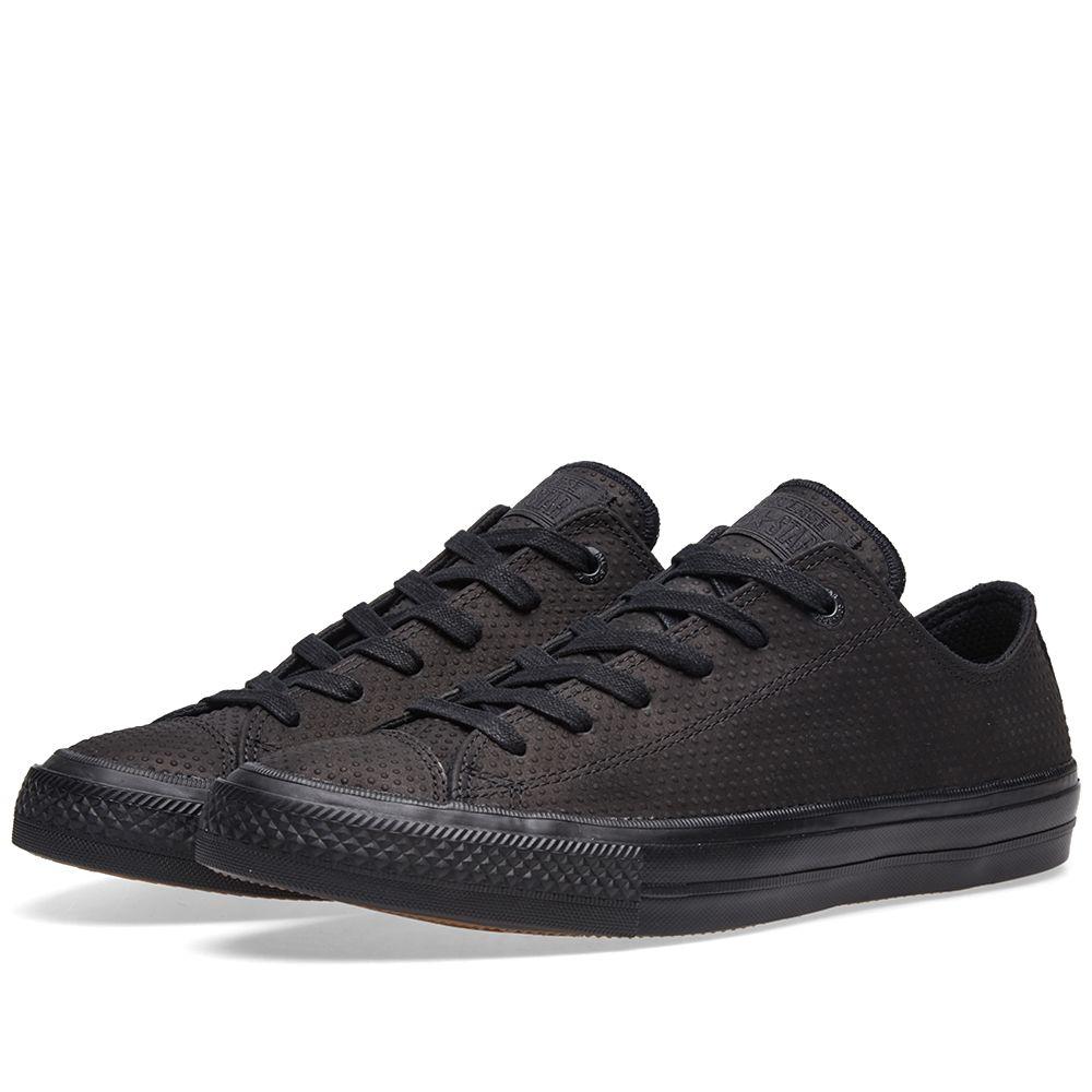 fc558f62e2db Converse Chuck Taylor II Ox Lux Leather Black   Gum