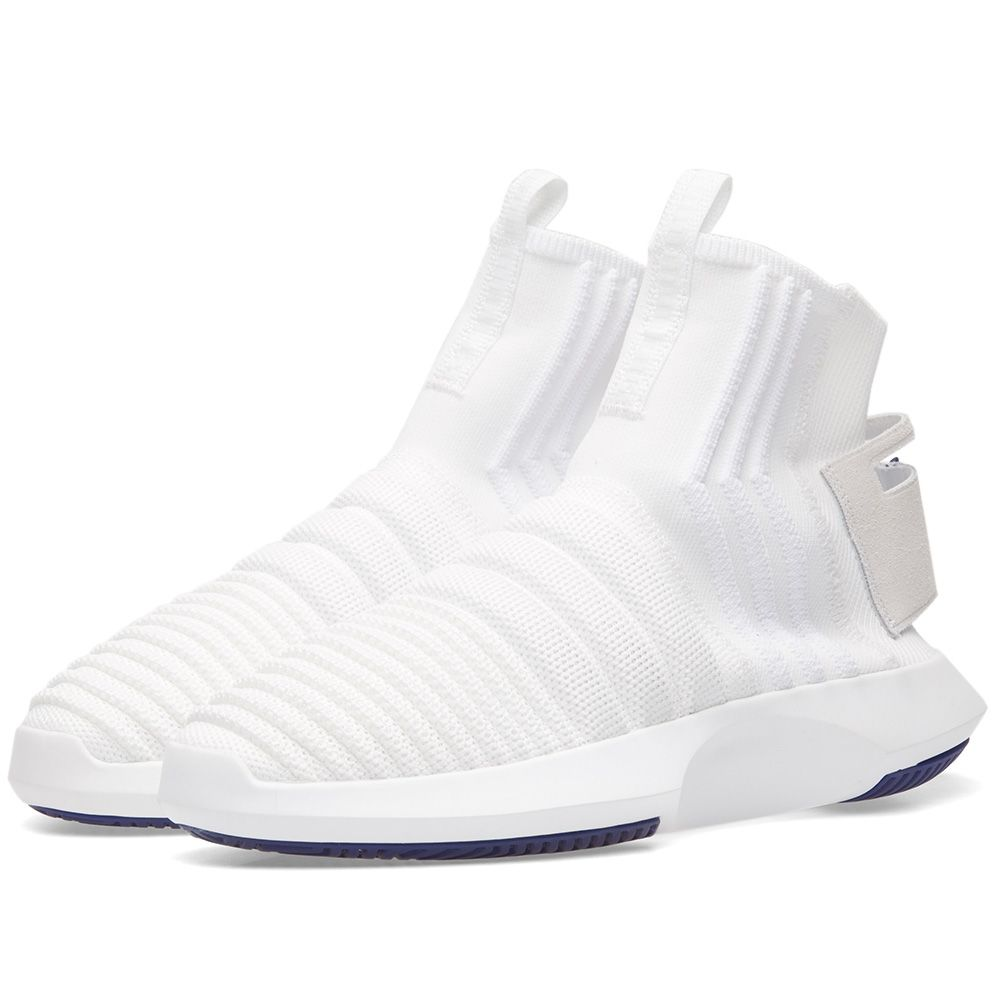 5a22a267fa01 Adidas Crazy 1 ADV Sock PK White   Purple