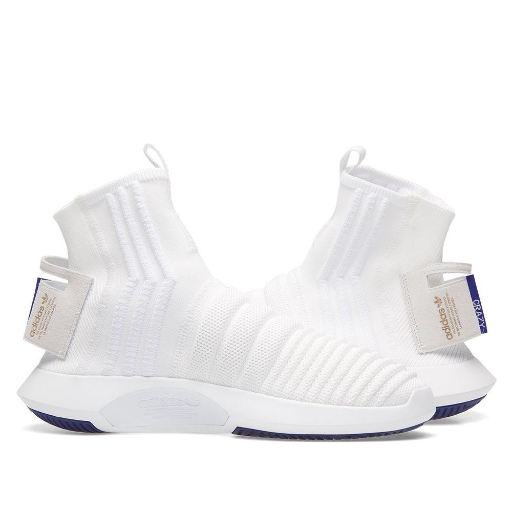 Adidas Crazy 1 ADV Sock PK White   Purple  39f1b2ee5226