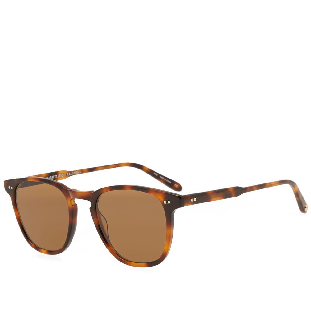baa1179a23d Garrett Leight Brooks Sunglasses Brown Tortoise   Pure Coffee