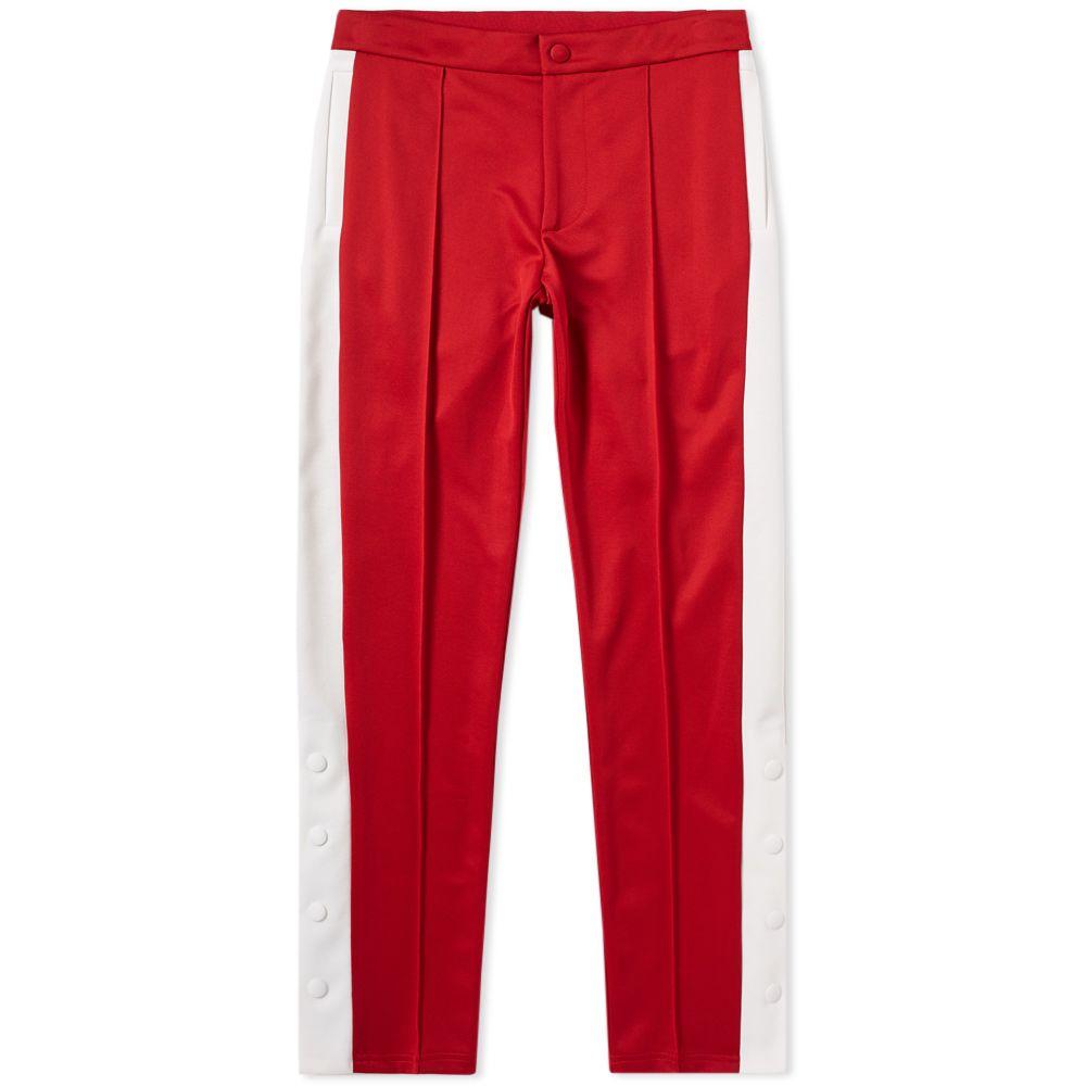0edf927e8147 Valentino Logo Popper Track Pant Red   Ivory
