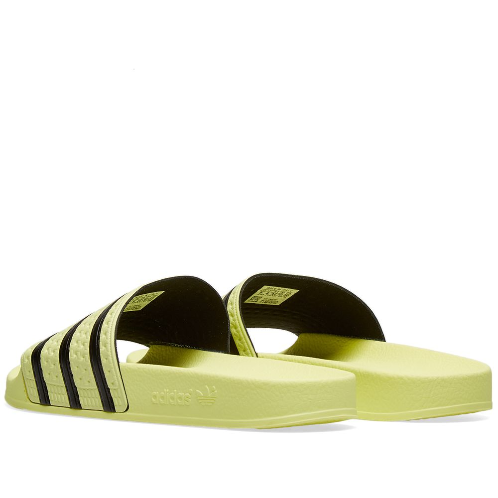 bec0df4ec93d Adidas Adilette W Ice Yellow   Core Black